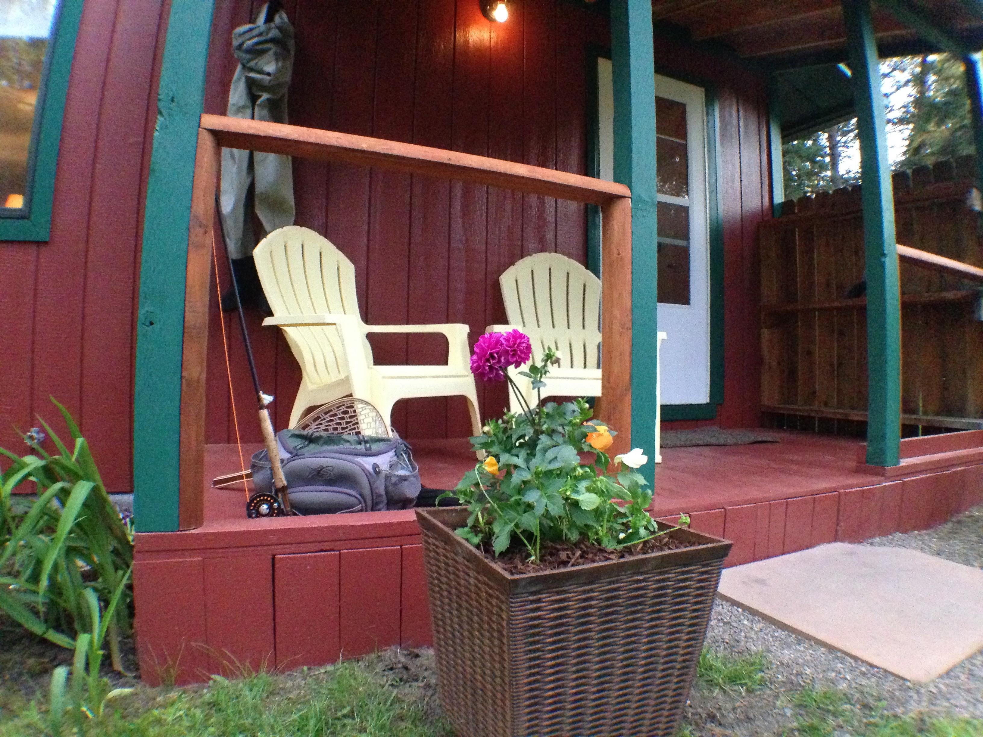 Cabin Porch Rock Creek MT