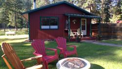 Morning light cabin