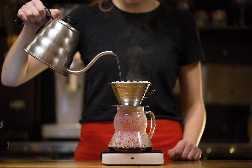Barista Making Drip Coffee