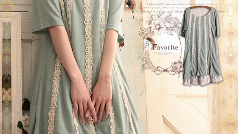 Sweet Lace Knitted Dress Flower Embroidery Summer Ladies Dresses