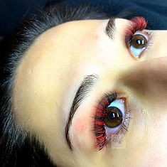 Cololured Lash Extensions, Red Lash Extensions, Eyelash Extensions, Volume Lashes, Brooklin, Whitby, Oshawa