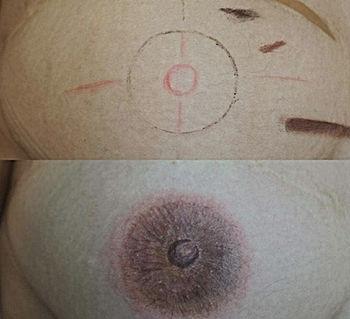 meme ucu areola similasyonu medikal makyaj yüksel biçer akademi