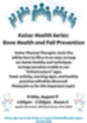 Kaiser Health Series-Health and Fall Pre