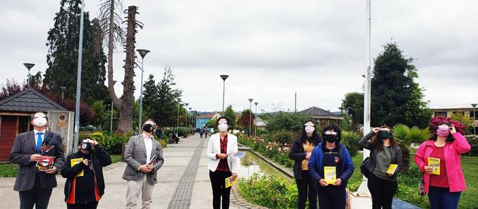 Entregan 1400 lentes para el eclipse a establecimientos educacionales de Lanco