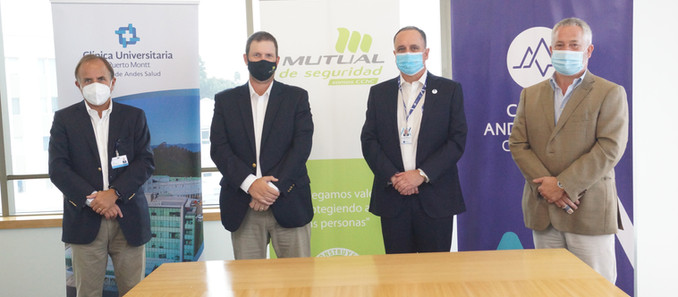 Clínica Andes Salud Concepción suscribe convenio con Mutual de Seguridad