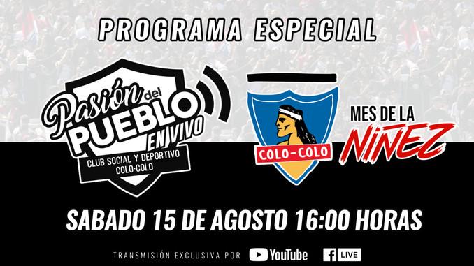 CSD Colo-Colo celebrará el Día de la Niñez con un programa especial en sus redes sociales