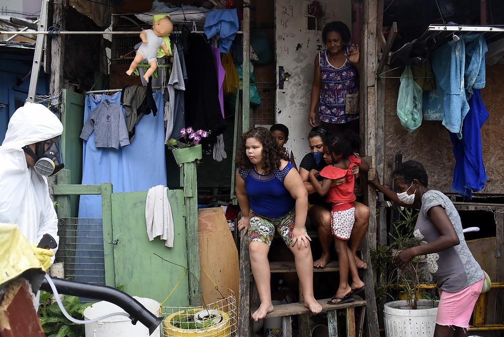 Brasil coronavirus favela