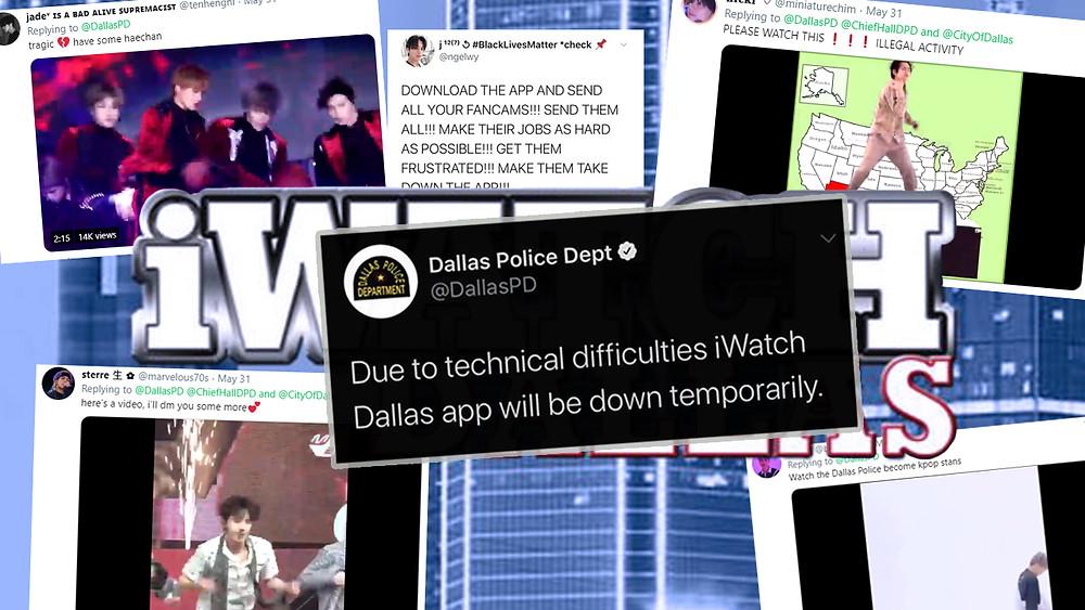 Kpop fans crash iWatch Dallas