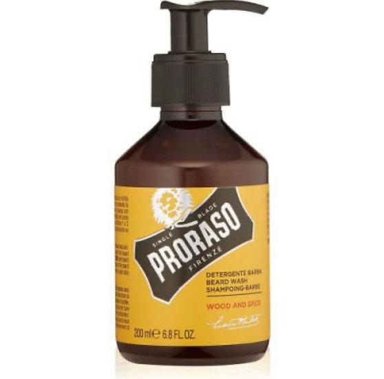 PRORASO BEARD WASH WOOD & SPICE 200ML