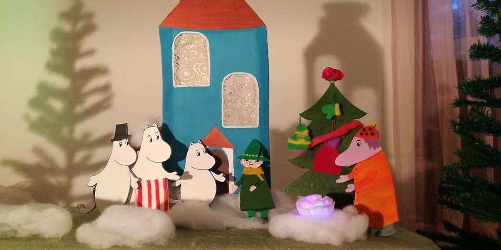 """Новогодняя сказка """"В гостях у Муми Мамы"""" и игратека со Снегурочкой."""