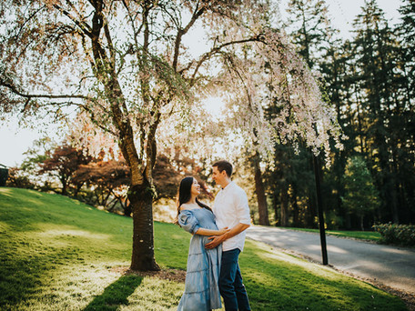 Eva and Grant: A Golden Hour Maternity Session at Jenkins Estate