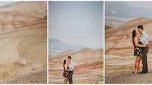 Andi + Seamus: Painted Hills, Oregon Adventure Engagement Session