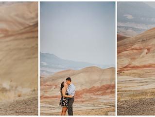 Andi + Seamus: Painted Hills, Oregon Adventure Engagement Session