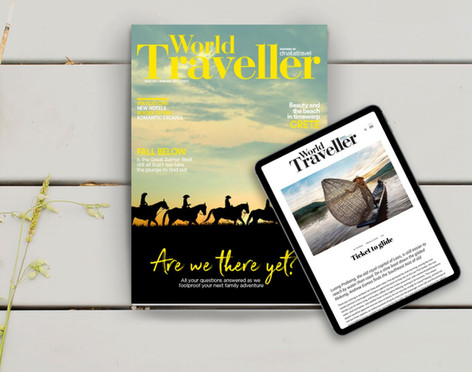 Project: World Traveller, dual language, multichannel magazine
