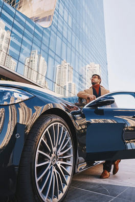 Project: Mercedes S-Class photoshoot