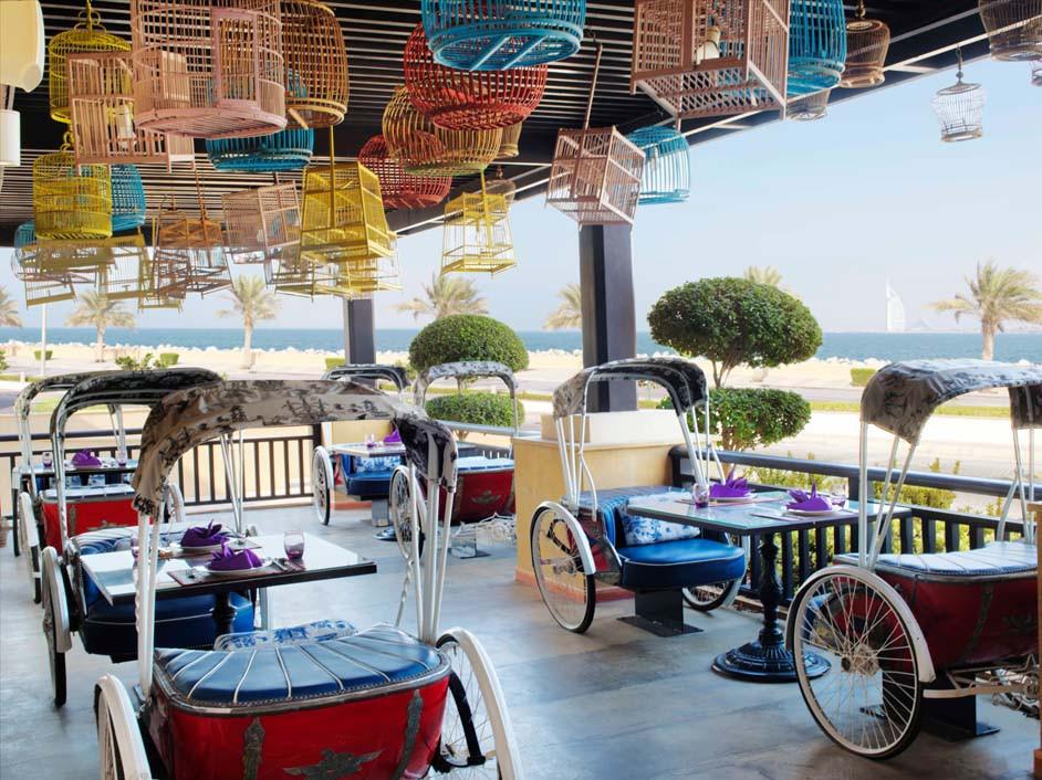 Dubai travel guide: Rickshaw at Asian restaurant