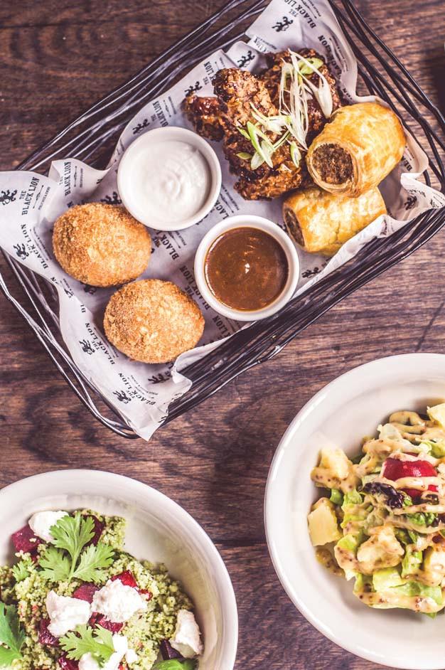 Dubai travel guide: sausage rolls in pub food basket