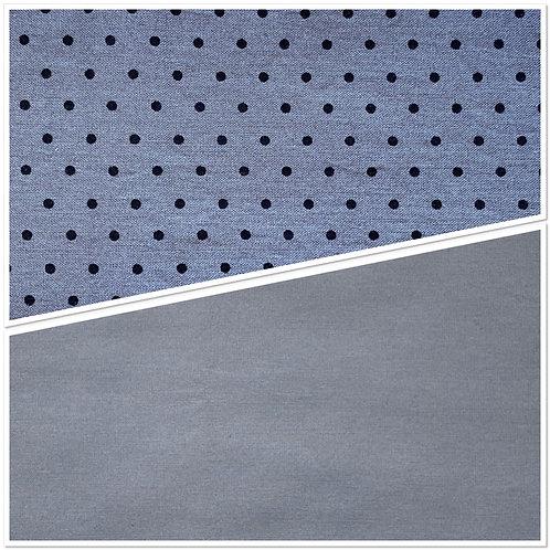 Black & Gray Polka Dot