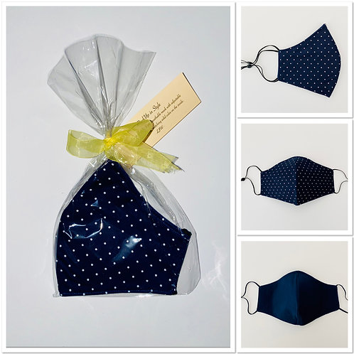 Navy Small Polka Dots