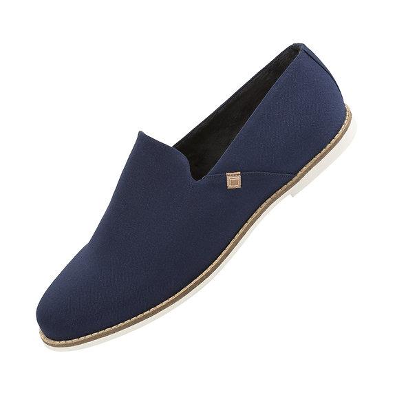 Nomadchik - Slippers homme Pauljac bleu marine - chaussons interieur
