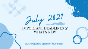 July 2021 | Important Dates & What's New