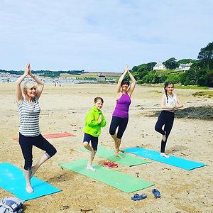 Family yoga class Cornwall