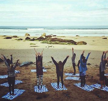 hen party yoga Cornwall