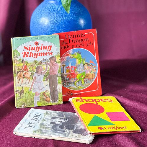 Set of 4 Vintage Ladybird Learning Children's Books