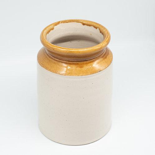 Large Vintage Stoneware 'W.P.H' Jar