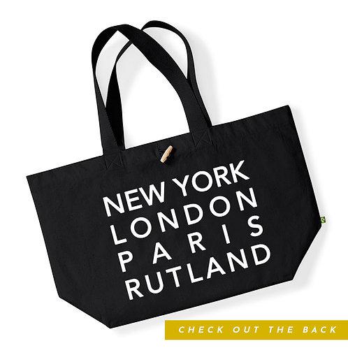 Large #ShopLocal Organic Cotton Shopping Tote Bag