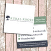 Business Card Design for Rural Roots PR & Journalism