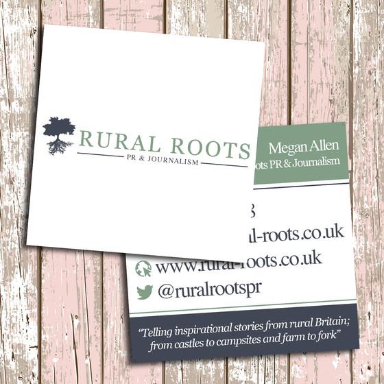 Business Card Design for Rural Roots PR & Journalism
