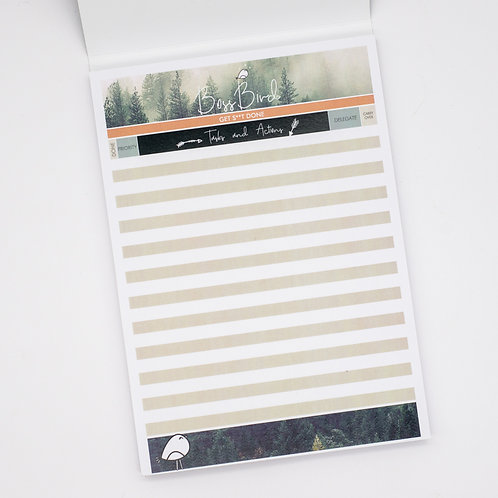 A5 Forest To-Do List Pad