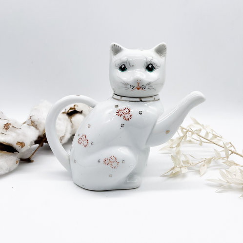 Vintage Chinese Cat Teapot