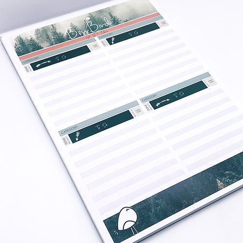 A4 Forest - Category To-Do List Pad