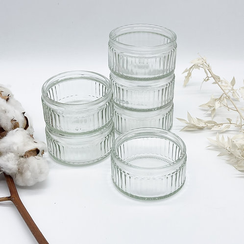 Set of 6 Vintage Glass Ramekins