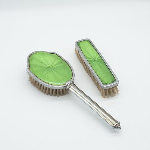 Vintage Green Brush Vanity Set