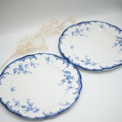 Pair of Antique Ridgways Chiswick Royal Semi Porcelain Dinner Plates (c.1910)