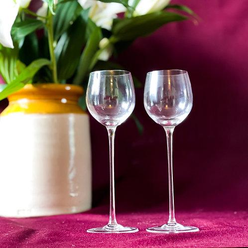 Pair of Vintage Elegant Dessert Wine Glasses