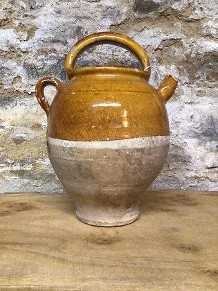Part Glazed Pot 19th Century