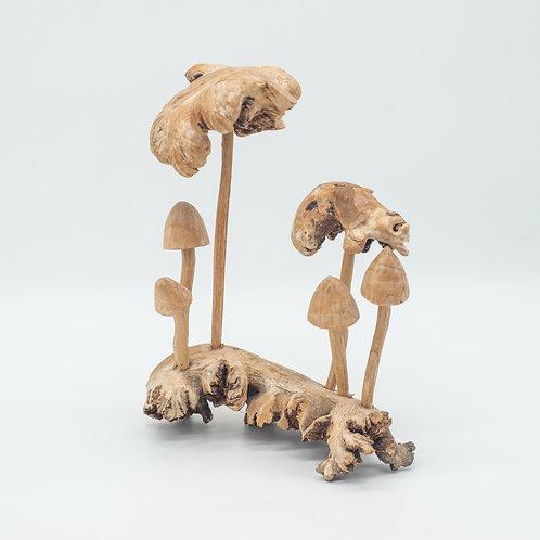 Unusual Handmade Driftwood Mushroom Ornament