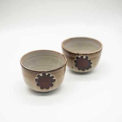 Pair of Vintage Rustic Studio Pottery Bowls