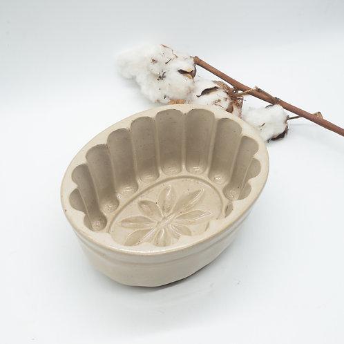 Antique Stoneware Starburst Jelly Mould