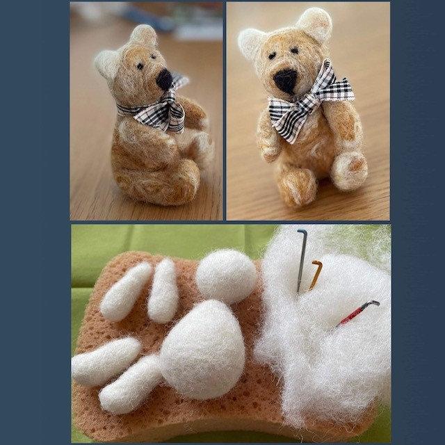 DRY NEEDLE FELTING WORKSHOP - TEDDY BEAR