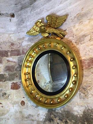 Giltwood Convex Mirror 19th Century