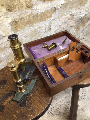 Boxed Microscope 19th Century