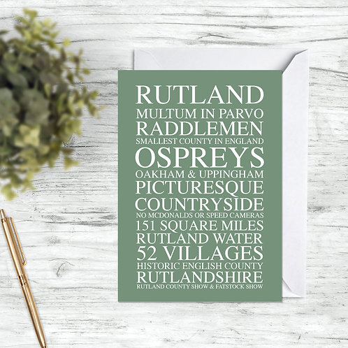 Rutland Greetings Card & Envelope