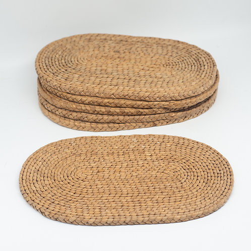 Set of 6 Vintage Woven Wicker Placemats