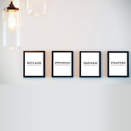 Local Coordinates Print Collection (Set of 4 - A5 Unframed)