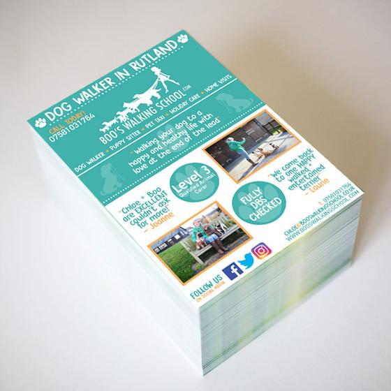 Leaflet Design for Rutland Dog Walker